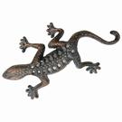 Grand Gecko mural en fonte - Dorure
