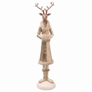 Figurine de Noël - Cerf robe couleur or