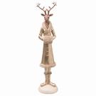 Figurine de Noël - Cerf robe couleur or