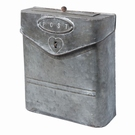 Boîte aux lettres décorative effet zinc