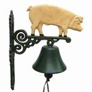 Cloche d'entrée avec support - Cochon