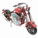 Modèle réduit moto rouge en métal - 44 cm