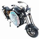 Moto noir en métal de décoration - 44 cm