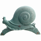 Porte tuyau vert mat en fonte - Gastéropode