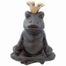 Statuette grenouille Roi en position du lotus