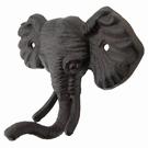 Crochet mural tête d'éléphant en fonte