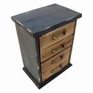 Mini meuble commode bois 4 tiroirs effet vieilli