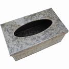 Boîte à mouchoirs jetables fer effet zinc