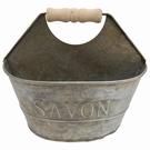 Panier porte savon/éponge effet zinc