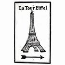 Plaque murale fonte - Tour Eiffel 3D