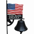 Cloche porte drapeau - God Bless America