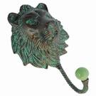 Porte manteau patiné vert de gris - Lion