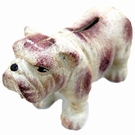 Bulldog mini tirelire en fonte de décoration