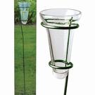 Pluviomètre en verre & tuteur métal à planter