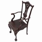 Chaise Chippendale en fonte de poupée