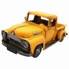 Pick-up jaune américain ancien de décoration