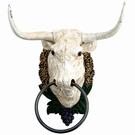 Tête de taureau murale fonte avec anneau