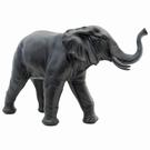 Eléphant trompe en l'air en résine - Noir