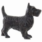 Chien Scottish-terrier fonte brun antique