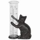 Pluviomètre à poser en fonte - Statuette chat