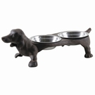 Gamelle double support fonte - Chien