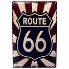 Plaque en métal décorative - Route 66
