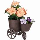 Tricycle porte-plantes en fonte de jardin