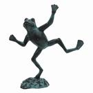 Statue de jardin fonte - Grenouille équilibriste