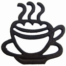 Dessous de plat en fonte - Tasse à café