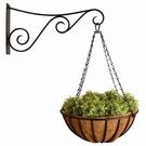 Porte plante géant fer forgé avec panier