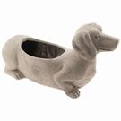 Pot de fleur en céramique chien Teckel