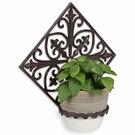 Porte plante mural brun antique - Mosaïque