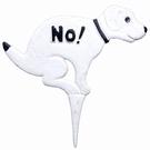 Piquet panneau fonte pour pelouse - No Dog