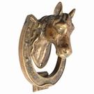 Heurtoir de porte laiton vieilli - Tête de cheval
