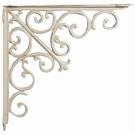 Porte étagère blanc antique L39 cm / Set de 2