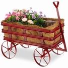 Chariot décoratif rouge pour plantes & fleurs
