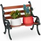 Mini banc décoratif pour 2 pots de fleurs