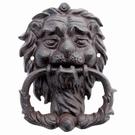 Heurtoir de porte tête de lion fonte