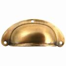 Poignée coquille patinée métal