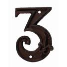 Numéro 3 pour porte de maison