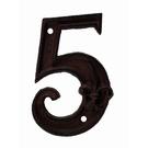 Numéro 5 pour porte de maison
